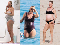 bikini moms photos people cbb gallery celeb bikini bump uma thurman celebritybabies