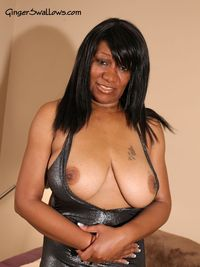 black milf porn images ginger swallows tit deep cleavage