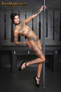 centerfold image model porn star promos bonnie rotten forced orgasm tattooed
