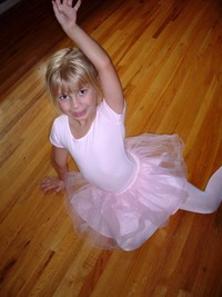 blonde mom pictures ballerina girl clearly excited about balle