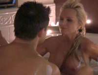 bravo milf real housewives tamra barney tit slip bath