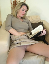 erotic milf photo girl reading masturbating erotic books touching