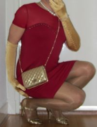 cindy gold porn free porn pics cindy cross crossdressing red dress gold