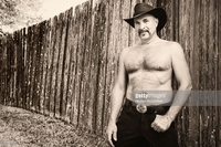 hairy mature pictures photos hairy shirtless mature cowboy sepia black white portrait picture detail photo royalty free