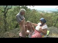 couple in old porn apmp horny teen catches old couple fucking bushes joins them