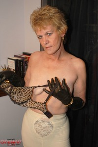 hand job mature pics mature leather gloves handjob