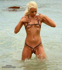 hot moms in bikini hotmom hot blonde micro bikini