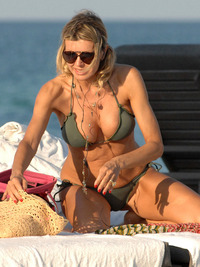 hot moms in bikini rita rusic gray bikini beach miami item