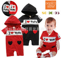 hot moms in underwear wsphoto hot sale free shipping pcs lot children hooded short sleeved baby boys rompers love dad price mom cartoon
