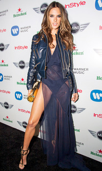 hot moms in underwear assets alessandra ambrosio flashes underwear sheer dress grammys party zoom celebrity style news