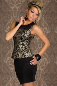 hot sexy matures item sexy mature foil print peplum dress