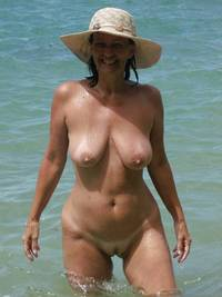 mature beach porn pictures naked milf relaxing outside