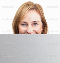 mature face pics depositphotos happy mature woman holding blank board front face stock photo