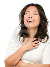 mature image laughing mature asian woman stock photo