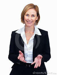 mature image mature female lawyer explaining case stock photo