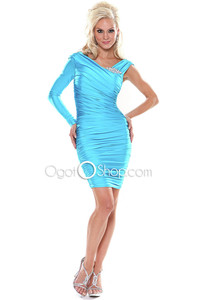 mature in sexy dress elegant neckline mature sexy ice blue pin cocktail vneckline