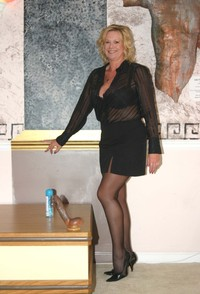 mature nylons porn attractive mature sexy stocking black nylon its toy