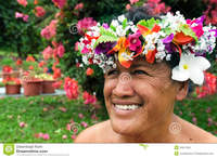mature porn pic categories portrait polynesian pacific island tahitian mature woman aitu female wearing exotic flowers bouquet smile here home profiles