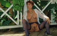 mature red head porn redhead porn vida mature blue lace lingerie photo
