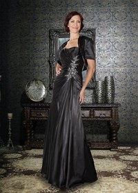 mature sexy dress mature feminine sexy formal black taffeta fabric charming eye catching mother brides eyecatching