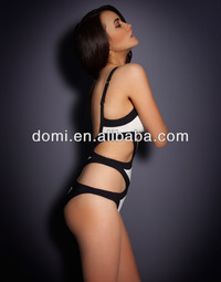 mature sexy product detail domi one piece panelled bandage swimsuit