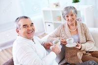 mature wife pic pressmaster portrait mature man his wife drinking tea home stock photo