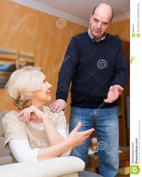 mature wife pic husband asking wife forgiveness guilty mature home stock photo