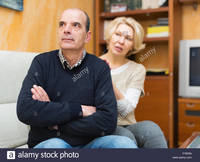 mature wife picture comp guilty mature wife asking husband forgiveness stock photo