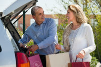 mature wife picture jackf happy mature husband wife shopping bags near car stock photo