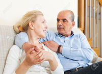 mature wife pix jackf happy elderly man flirting mature wife hug together home interior stock photo