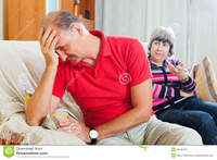 mature wife pix sad mature man listening angry wife family quarrel men home stock photo conflict woman women kitchen