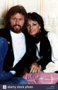 mature wifes gallery comp barry gibb former bee gees wife linda stock photo