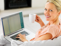 mature women photo photodune pretty mature woman having cup coffee using laptop foods that help women focus