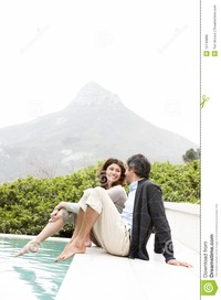 middle age mature porn mature couple relaxing pool copyspace yacht