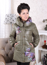 middle aged women porn pictures wsphoto winter middle aged women wadded jacket mother clothing cotton padded outerwear stand font age autumn