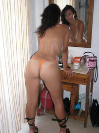 milf with pics thick legs milf tanlines orange thong panties tan lines