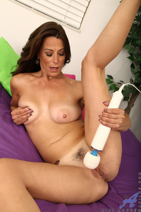 milf woman photo mimi moore mature woman caresses milf pussy magic wand
