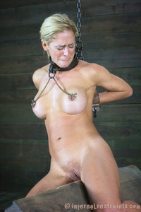 milf woman photo media milf sub heavily chained bdsm slave jan