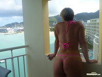 mom bikini mom sexy bikini hotel hot balcony