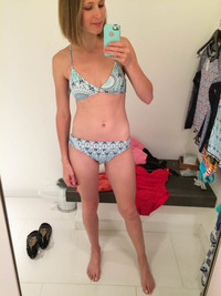 mom bikini dressing room selfies swimsuit that time tried bajillion swimsuits