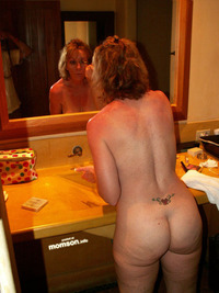 mom hot naked sexy nude mother wearing make wash room mommy doing makeup