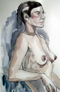 naked mature nude category life drawings
