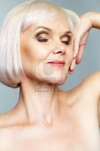 nude mature pressmaster portrait nude mature lady eyes closed hand gracefully held photo