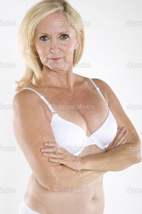 nude mature depositphotos portrait semi nude mature woman arms crossed stock photo