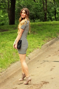 older black nude french connection black white dress stripes