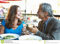 outdoor mature sex pics mature couple enjoying meal outdoor restaurant smiling each