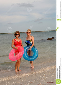 pics of older women active older women beach stock photography