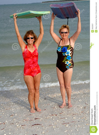 pics of older women active older women beach royalty free stock photography