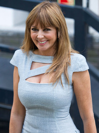 pics of sexy old women carol vorderman tight dress outside london studios entry