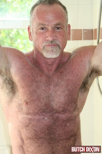 porn older mature butch dixon silver haired hunk older mature stud mickie collins flexes muscles rubs furry tanned skin male tube red gallery photo awesome this